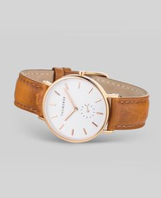 Rose Gold / Tan Leather