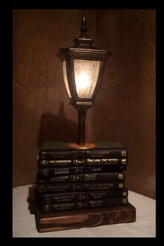 Stacked books table lamp hgtv upcycle and stacked books aloadofball Image collections