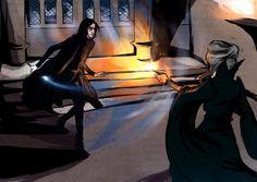 May 1st the battle of hogwarts Severus vs Minerva beautiful art
