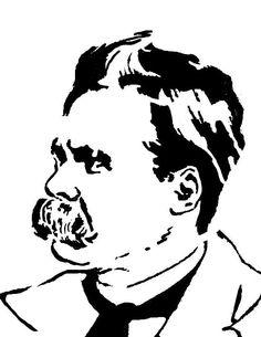Nietzsche Stencil by on DeviantArt Andy Warhol Museum, Tinta China, Friedrich Nietzsche, Great Love, Good Mood, American Artists, Stencils, Ink, Deviantart