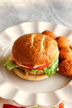 Crab Cake Sandwiches with Spicy Remoulade and Homemade Hush Puppies