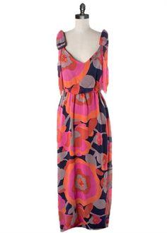 Judith March - Spring Poppy Floral Maxi Dress