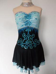 CUSTOM-MADE-NEW-FIGURE-ICE-SKATING-TWIRLING-DRESS-COSTUME