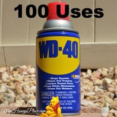 100 Uses for Use to loosen rusty nuts and screws, clean garden tools Cleans piano keys Keeps wicker chairs from squeaking Lubricates s