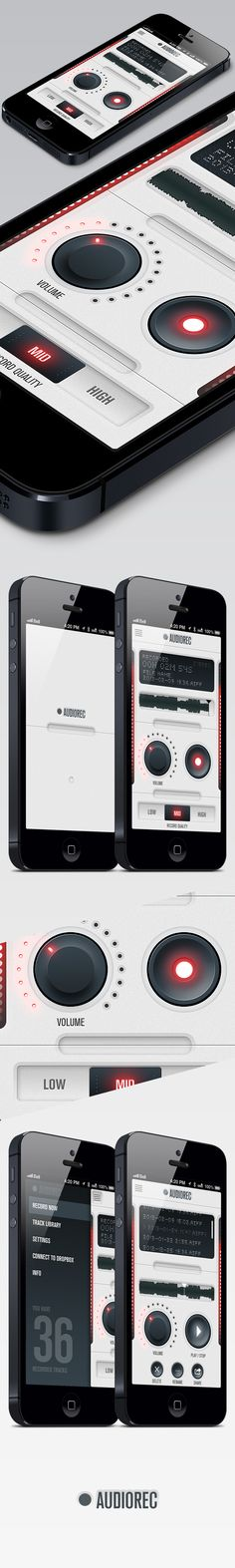 AudioRec UI App Concept by Miguel Pires, on Behance