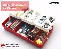 Organizer Boxes are in sale! http://www.jsumo.com/organizers Very handy for all Robot Makers. Can be easily taken to all Robot competitions. #jsumo