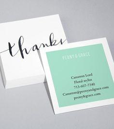 Square Business Card Designs