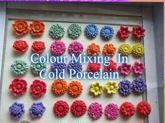 Perfect Colour Mixing in Cold Porcelain
