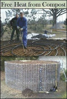 Build a Free Heating System While Composting!