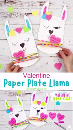 This Paper Plate Llama Craft is so adorable! It's a quick and easy llama craft for kids and a cute idea for a Valentine's Day card too! Add a written llama pun message to make a llama valentine craft that's sure to delight! Llama be your Valentine! Valentines Bricolage, Valentine Crafts For Kids, Holiday Crafts, Ideas For Valentines Day, Valentine's Day Crafts For Kids, Mothers Day Crafts, Toddler Crafts, Diy Lego, Valentine's Cards For Kids