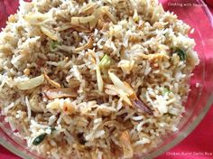 I want to try something new and found this exciting dish from Sanjeev Kapoor's collections. We loved the burnt garlic flavour which ta. Chicken Rice, Garlic Chicken, Burns, Dishes, Cooking, Chinese, Food, Kitchen, Arroz Con Pollo