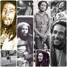 *Bob Marley* More fantastic collages, pictures and videos of *Bob Marley* on: https://de.pinterest.com/ReggaeHeart/ ©Gina Grandi