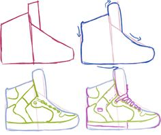 sneakers side view guide by yummytomatoes