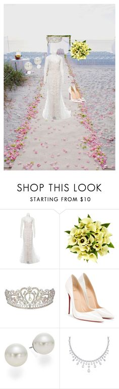 """""""I do"""" by ashleyhall0615 ❤ liked on Polyvore featuring Vera Wang, Fountain, Christian Louboutin and AK Anne Klein"""