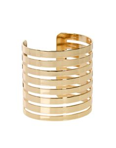 This accessory can just make some outfits..Cut Out Stripe Cuff Bracelet
