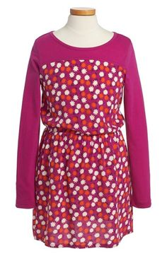 Tucker + Tate Long Sleeve Floral Print Dress (Big Girls) available at #Nordstrom, size Medium