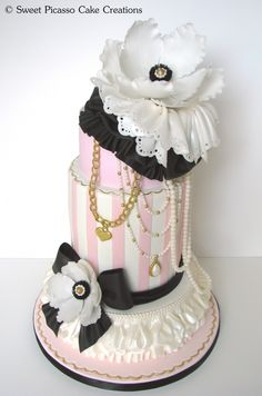 ooh-la-la -- such a wonderful cake for that special girl! ~ Sweet Picasso Cake Creations