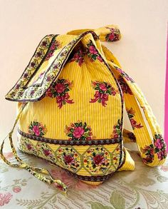 Floral Cloth Backpack