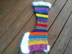 Large Funky Stripes Christmas Stocking by creativedayconcepts