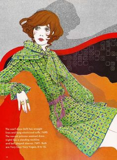 Fashion illustrations from a 1970 Vogue Pattern Book. Source by araltnta fashion illustration Vogue Fashion, 70s Fashion, Fashion Prints, Fashion Art, Vintage Fashion, Fashion Illustration Vintage, Illustration Sketches, Fashion Illustrations, Feelin Groovy