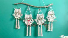 Macrame Plant Hanger Patterns, Free Macrame Patterns, Macrame Wall Hanging Patterns, Macrame Plant Hangers, Owl Patterns, Canvas Patterns, Macrame Owl, How To Macrame, Macrame Design