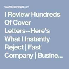 I Review Hundreds Of Cover Letters Heres What Instantly Reject