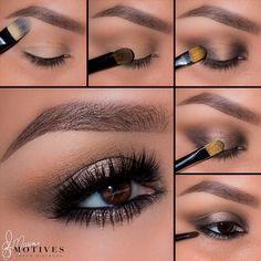 Simple but stunning brown shimmer eye make up tutorial. Gorgeous Makeup, Love Makeup, Simple Makeup, Makeup Inspo, Makeup Art, Makeup Inspiration, Makeup Tips, Beauty Makeup, Hair Makeup