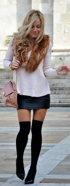 #leather #skirt #outfit