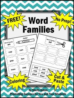 Word Families Free Worksheets Dr. Seuss Supplement Word Work