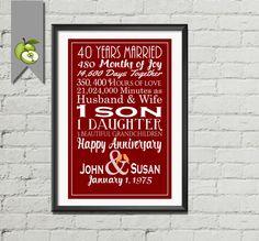 40th anniversary confetti | 40th Anniversary Ideas | Pinterest | Anniversary parties, Anniversary and 40th anniversary