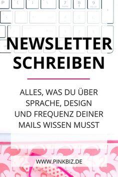 Newsletter schreiben für Blogger, Dienstleister und Entrepreunere. Alles, was du über Sprache, Design und Frequenz deiner Mails wissen musst. Fragst du dich, wie du richtig gute Newsletter schreibst, und wie oft du Newsletter optimal versendest? In diesem Blogpost findest du Antworten.
