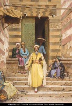Arthur von Ferraris (Hungary, 1856-1936) 'At The Door Of The Mosque'