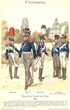 Knötel-Tafel 11/36, Prussia Foot Guards
