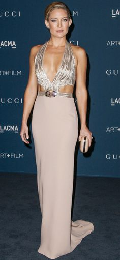 10 Times Kate Hudson Reminded Us She Has Abs | People - in a sexy pale pink Gucci cutout dress
