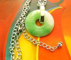 MEN  JEWELRY   Peking  jade  donut  pendant  necklace   BellaWorxJewelry - Jewelry on ArtFire