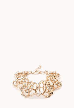 Charmed Floral Rhinestone Bracelet | FOREVER21