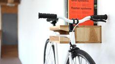 Indoor Bicycle Storage : Remodelista It's a shelf, it's a storage, it's clever! Bicycle Storage Garage, Indoor Bike Storage, Garage Storage, Bike Hanger, Bike Rack, Bike Shelf, Creative Storage, Storage Ideas, Storage Solutions