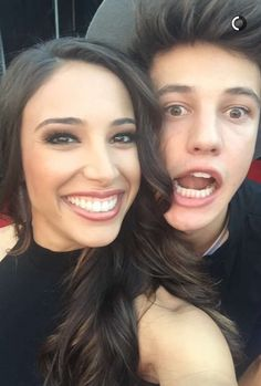 Cameron with his sister