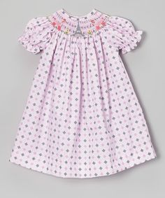 Take a look at this Pink Diamond Eiffel Tower Bishop Dress - Infant & Toddler by Vive La Fête on #zulily today!