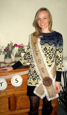 Burlap and Lace Bride-to-Be Sash
