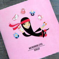 Fresh from the printing press! New Mother's Day Card : Motherhood level: Ninja :D Available online and soon in a store near you #MothersDay Mom Birthday, Cards, Mom Day, Printing Press, White Envelopes, Ninja, Mum Birthday, Ninjas, Maps