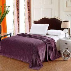 Plazatex / Sheradian Premium Stripe Woven Fabric Blanket Color: Coffee, Size: Queen