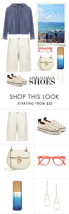 """""""Casual Embellished Shoes"""" by musicfriend1 ❤ liked on Polyvore featuring M.i.h Jeans, RED Valentino, Chloé, Alterna, ABS by Allen Schwartz, Miss Selfridge, lovethis, casualstyle and embellishedshoes"""