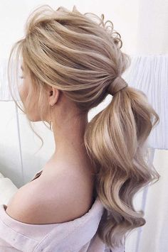 53 Best Ponytail Hairstyles { Low and High Ponytails } To Inspire , hairstyles Prom hairstyle, easy ponytails, puff ponytails Pony Hairstyles, Braided Ponytail Hairstyles, Wedding Hairstyles, Twisted Ponytail, Ponytail Wrap, Straight Ponytail, Daily Hairstyles, Braid Hair, Everyday Hairstyles