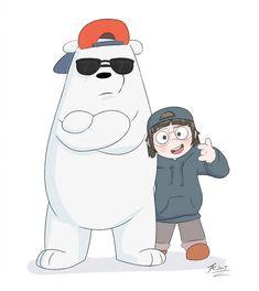 Rapping Duo by JAZcabungcal on DeviantArt We Bare Bears Human, Ice Bear We Bare Bears, 3 Bears, Baby Bears, Bear Cartoon, Cartoon Art, Cute Cartoon, Bear Tumblr, Bear Island