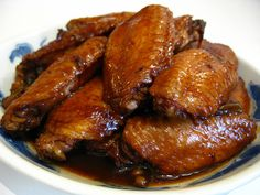 Soy Sauce Chicken Wings~ yup, another chicken wing recipe. I should really find some other culinary weapon lol. My grandma used to make these all the time and they were sooo good. Hope this recipe can come close