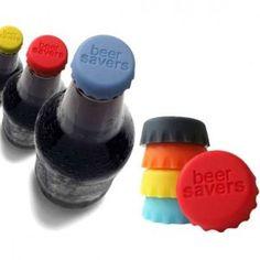 Beersavers - Seis Tampas de silicone para vedar garrafas