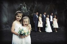 Beach Bridal Party Wedding Image