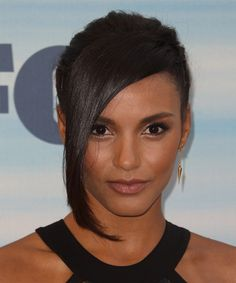 Jessica Lucas Long Straight Dark Brunette Updo with Side Swept Bangs Brunette Updo, Dark Brunette, Canadian Actresses, Actors & Actresses, Beautiful Black Women, Simply Beautiful, Jessica Lucas, Star Girl, Classic Outfits