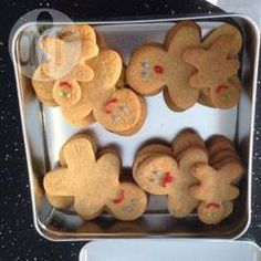 Chewy gingerbread men @ allrecipes.co.uk These turned out nice and not too sweet, I used maple syrup instead of golden syrup... Make sure to space them out on the baking tray, they grew to twice their size!